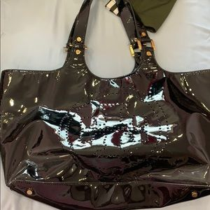 Black patent leather Tory Burch bag